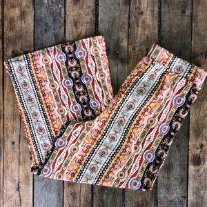 no comment Pants - Multi Color Tie Waist Wide Leg Pants